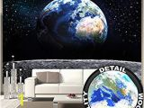 Earth From Space Wall Mural Amazon Great Art Heart island In Crystal Clear Water Wall