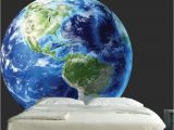Earth From Space Wall Mural Earth Wall Mural Decal Planet Wall Decal Murals Primedecals
