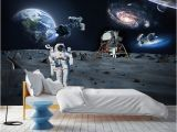 Earth From Space Wall Mural Moderno Wall Paper Stickers Space Wallpaper Mural Kids Room