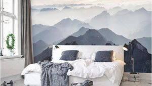 Earth Rising Wall Mural Mystische Berge Wandbild Misty Mountain Schatten