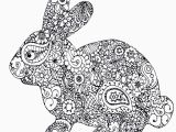 Easter Bunny Coloring Pages Printable Free Animal Adult Coloring Pages In 2020
