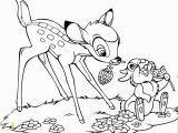 Easter Coloring Pages Disney Characters Bambi and Thumper Bambi Color Page Disney Coloring Pages