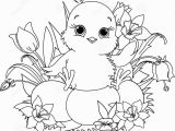 Easter Coloring Pages Disney Characters Happy Easter Chick Coloring Page Stock Vector