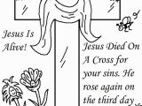 Easter Coloring Pages Jesus is Alive 25 Religious Easter Coloring Pages