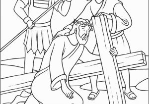 Easter Coloring Pages Religious Education Stations Of the Cross Coloring Pages 7 Jesus Falls the Second Time