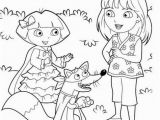 Easter Dora Coloring Pages Free Printable Dora Christmas Coloring Pages Picture 37