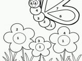Easy Color by Number Coloring Pages Color by Number Spring Worksheet for Kids Here is Number