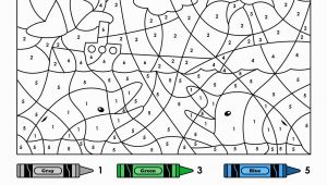 Easy Color by Number Coloring Pages Easy Color by Number for Preschool and Kindergarten