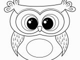 Easy Coloring Pages Cute Cartoon Owl Coloring Page