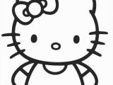 Easy Coloring Pages Of Hello Kitty Hello Kitty Coloring Pages 1 Coloring Kids