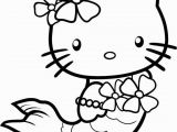 Easy Coloring Pages Of Hello Kitty Hello Kitty Coloring Pages Mermaid with Images
