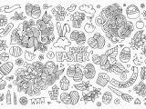 Easy Easter Egg Coloring Pages Simple Easter Doodle Easter Adult Coloring Pages