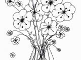 Easy Flower Coloring Pages 11 Wonderful Bouquet Flowers In Vase