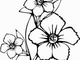 Easy Flower Coloring Pages Coloring Pages Flowers Coloring for Kids Line Coloring