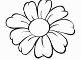 Easy Flower Coloring Pages Daisy Coloring Pages