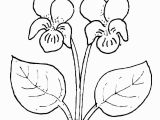 Easy Flower Coloring Pages Violet Flower Super Coloring