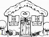 Easy Gingerbread House Coloring Pages Free Printable House Coloring Pages for Kids Coloring