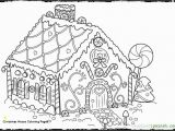 Easy Gingerbread House Coloring Pages Graffitiraw