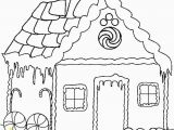 Easy Gingerbread House Coloring Pages House for Drawing at Getdrawings