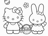 Easy Hello Kitty Coloring Pages Hello Kitty with Easter Bunny Coloring Page From Hello Kitty