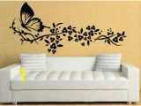 Ebay Uk Wall Murals Details About Stunning butterfly Floral Design ornamental Wall Sticker Decor Removable