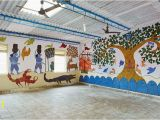 Educational Wall Murals for Schools Amazing Mud Paintings On School Walls In Bihar
