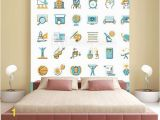 Educational Wall Murals for Schools Collection Od Educational Icons Back to School Wall Mural
