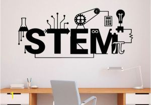 Educational Wall Murals Stem Wall Decal Vinyl Sticker Science Technology Art Design School