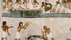Egyptian Murals and Paintings Egyptian Mural Paintings From the tomb Of Menna Egyptology