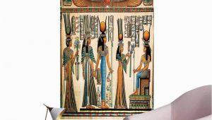 Egyptian themed Wall Murals Amazon Brandosn Egyptian Stickers Wall Murals Decals