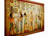 Egyptian themed Wall Murals Old Papyrus Style Egyptian Art Canvas Art Cheap Wall Print