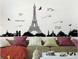 Eiffel tower Wall Mural Penate Eiffel tower Wall Stickers Living Room Bedroom Dormitory Decor Environmental Wallpaper