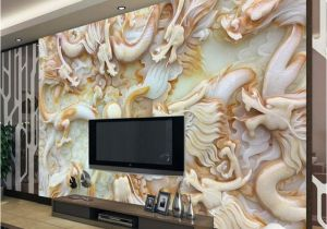 Electronic Wall Murals Beibehang 3d Wallpapers Hd Jade Carving Kowloon Opera Living Room