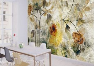 Electronic Wall Murals Xchelda Custom 3d Wallpaper Design Old Texture Flowers Kitchen