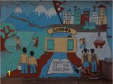 Elementary School Wall Murals Mural Projects Nepal Sarah Edelsburg