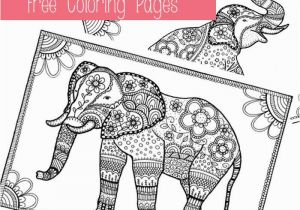 Elephant Coloring Pages to Print for Adults Adult Coloring Pages Elephant Beautiful Good Coloring Beautiful