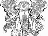 Elephant Mandala Coloring Pages Printable Elephant Mandala Henna Coloring Page