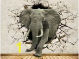 Elephants On the Wall Murals 3d Elephants Break 558 Thr Wall Paper Wall Print Decal Wall