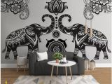 Elephants On the Wall Murals Customized Wallpaper 3d Murals Wallpapers Simple Hand Drawn Animal Elephant Murals Background Wall Papers Home Decor Aishwarya Rai Wallpapers