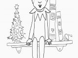 Elf On the Shelf Coloring Pages Free Printable Elf the Shelf Coloring Pages Coloring Home