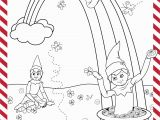 Elf On the Shelf Coloring Pages St Patrick S Day Printable
