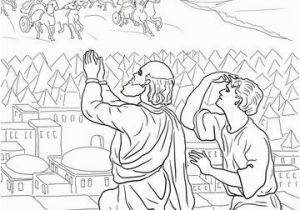 Elisha Helps A Widow Coloring Page Elisha Fiery Army Coloring Page