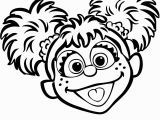 Elmo Head Coloring Page Abby Cadabby Coloring Page