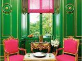 Emerald City Wall Mural Hot Pink Chairs Kelly Green Walls Design