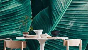 Emerald City Wall Mural Tropical Leaf Texture Wall Mural Wallpaper Nature