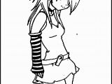 Emo Anime Girl Coloring Pages Emo Anime Coloring Pages to Print Anime Boy and Girl Coloring Pages