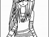 Emo Anime Girl Coloring Pages Emo Coloring Pages to Print Anime Angel Girl Coloring Pages