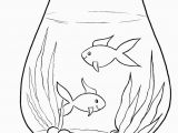 Empty Fish Bowl Coloring Page Simple Coloring Pages for Children