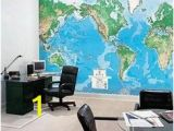 Environmental Graphics Giant World Map Wall Mural Dry Erase Surface 26 Best Functional Wall Decor Images