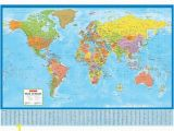 Environmental Graphics Giant World Map Wall Mural Dry Erase Surface Wall Map Q=wall Map